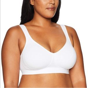 Playtex bra white ultimate lift support wire free
